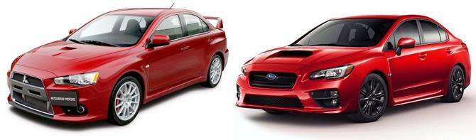Subaru WRX vs Evo X