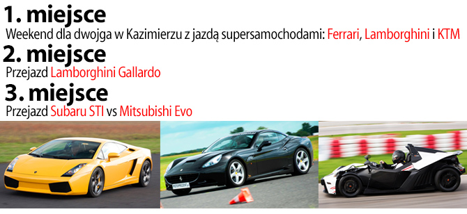 Ferrari, Lamborghini, KTM