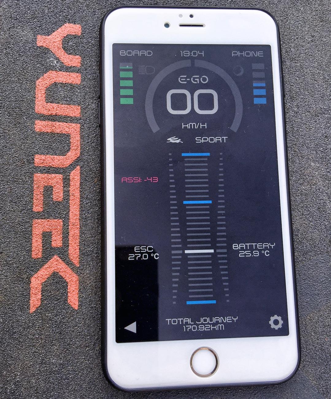 Elektryczna deskorolka Yuneec E-GO TEST