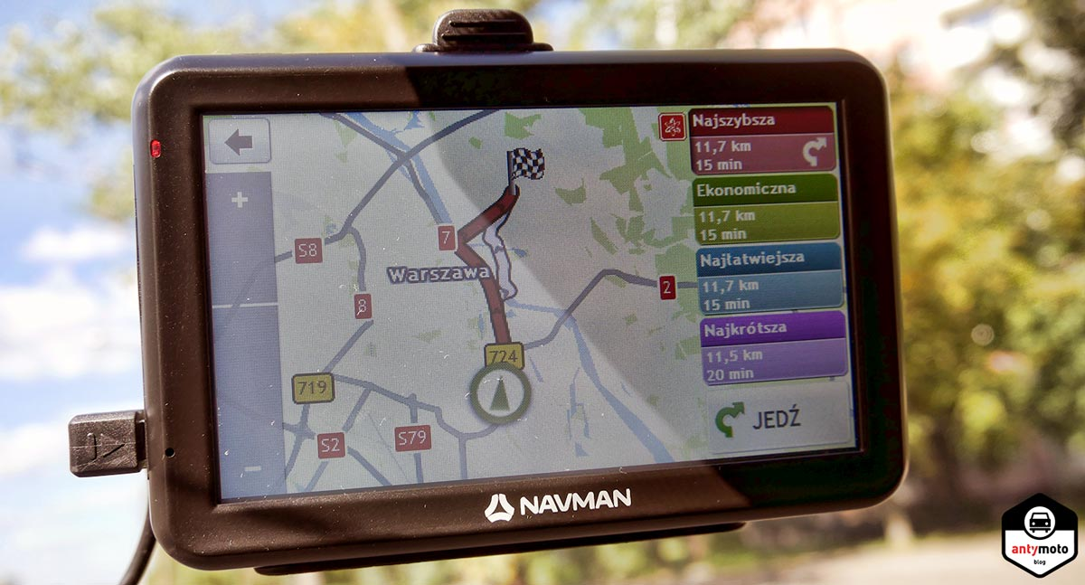 Test nawigacji samochodowej Navman 5000 LM