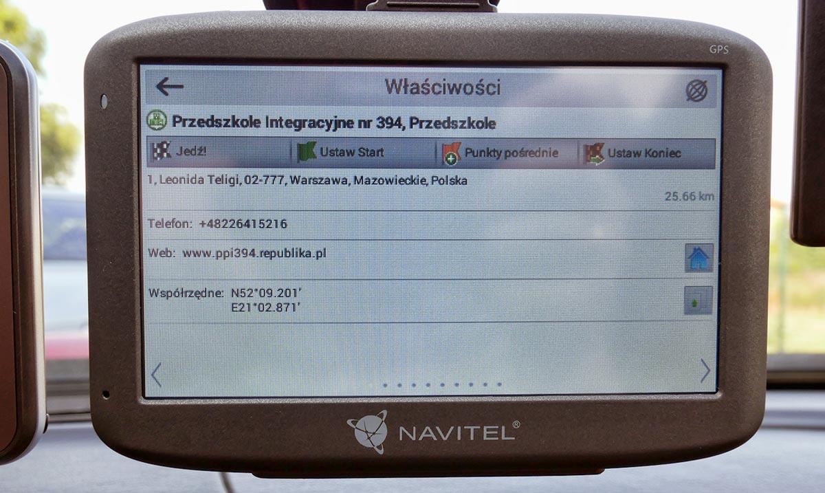 Navitel E500 test nawigacji
