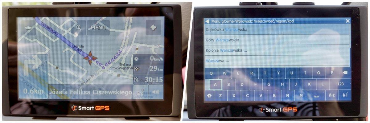 Smart GPS SG732 TT EU test nawigacji