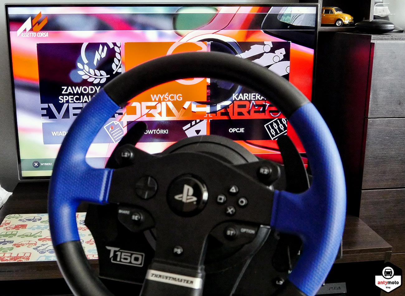 Test Assetto Corsa kierownica Thrustmaster T150