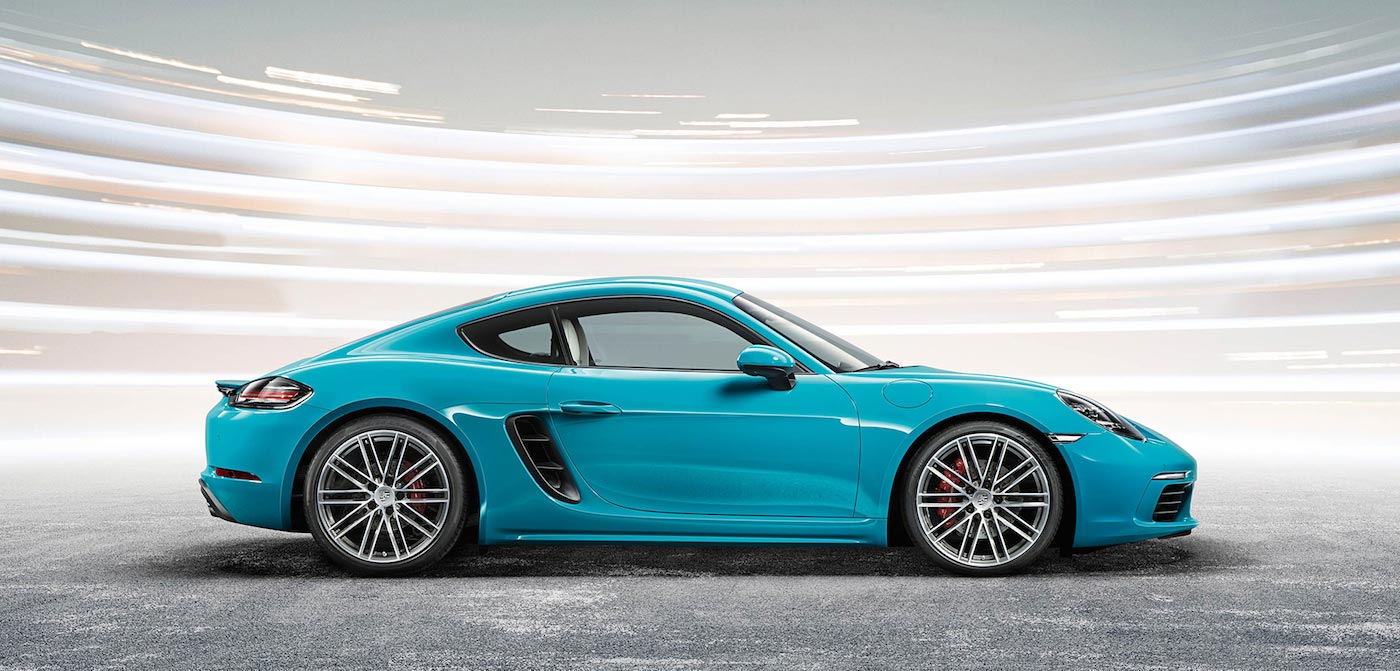 Miami Blue Porsche