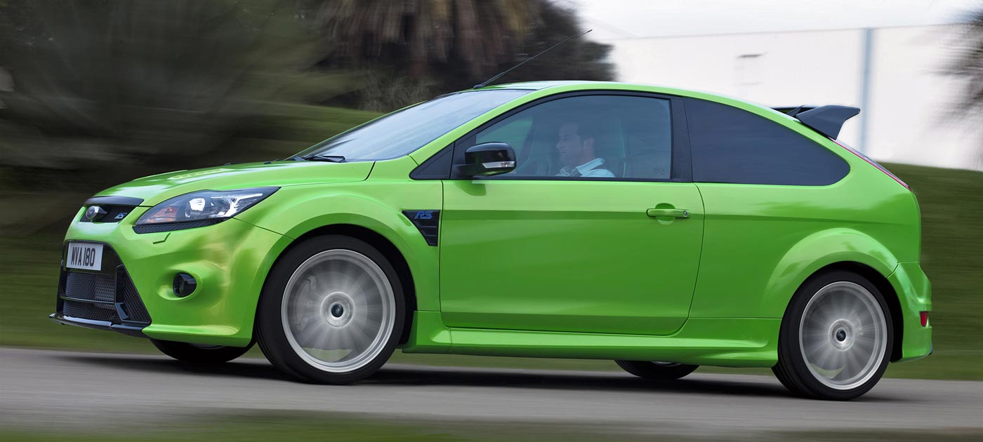 Ford Focus RS w kolorze Ultimate Green