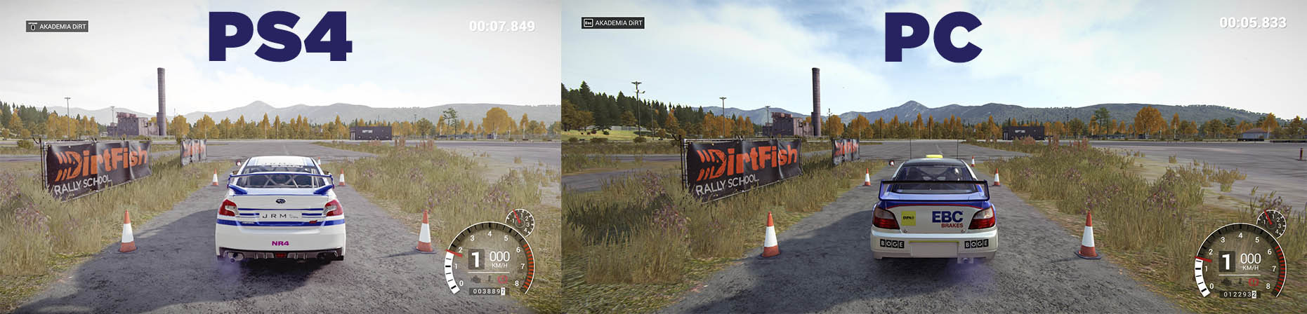 dirt 4 ps4 pc graphics