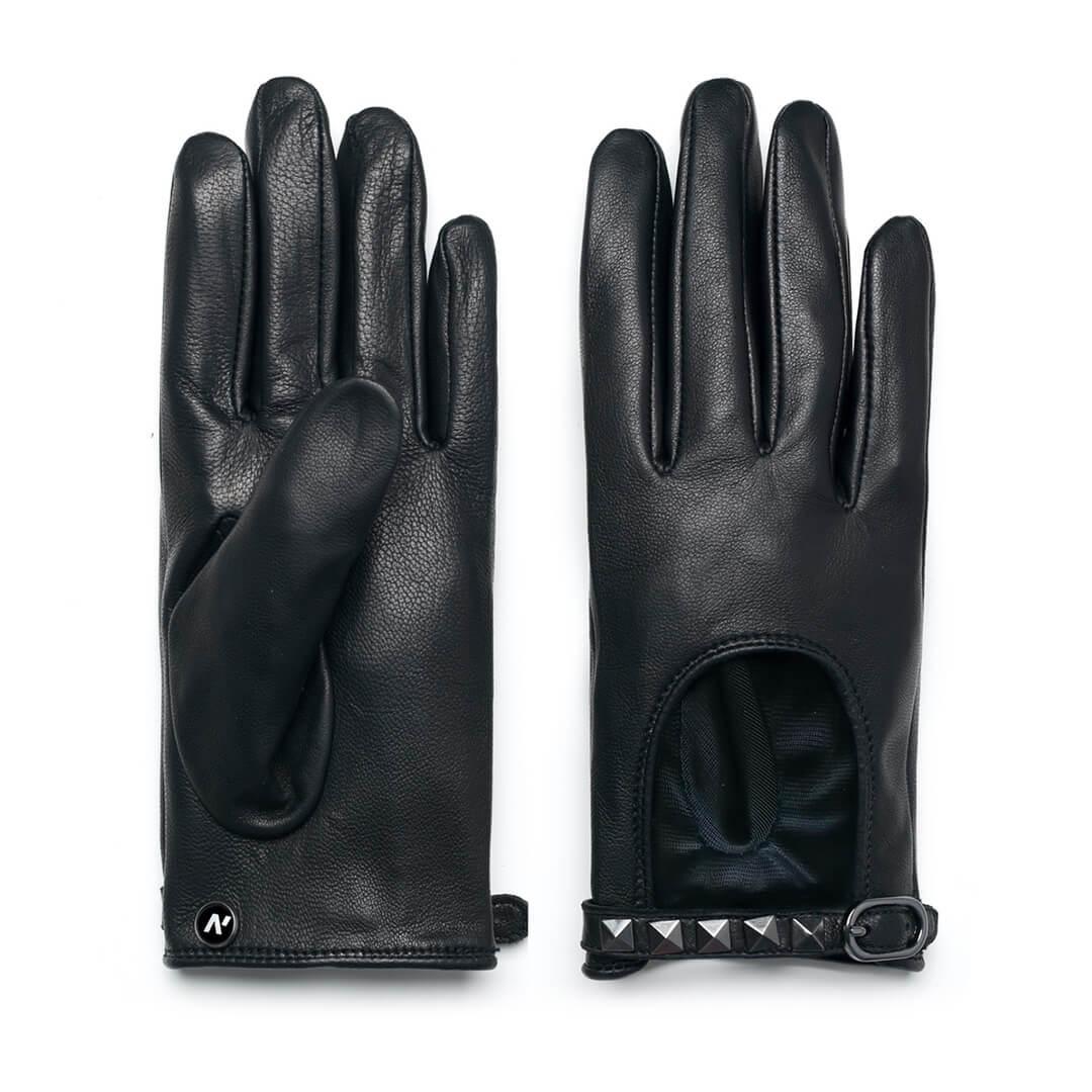 Rękawiczki samochodowe damskie napoROCK (czarny)